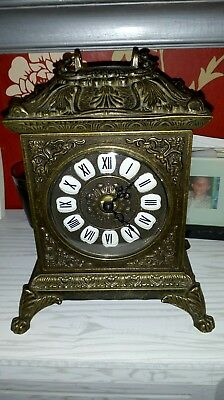 "D""Oro , ormolu Carriage Clock"
