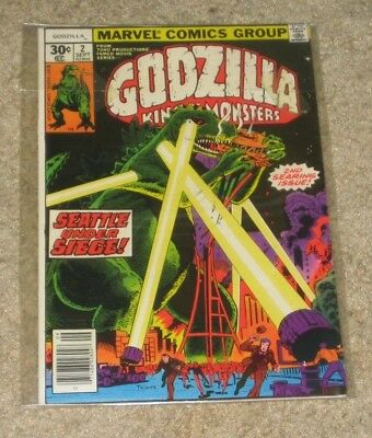GODZILLA No.2 King of the Monsters Marvel Sept. 1977 Seattle Under Siege