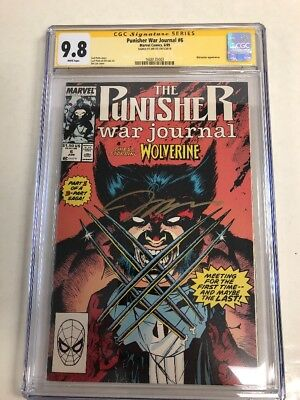 Marvel Comics The Punisher War Journal # 6 CGC 9.8 Signature Jim Lee Wolverine