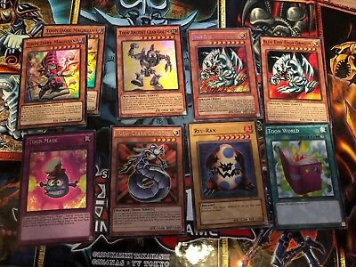 -9X Toon Cards Lot Very Great Cards Like Blue-Eyes Toon Dragon Srl-000 All Nm-Lp