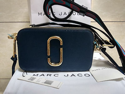 Genuine Marc Jacobs Snapshot Small Camera Bag Crossbody sea blue SALES