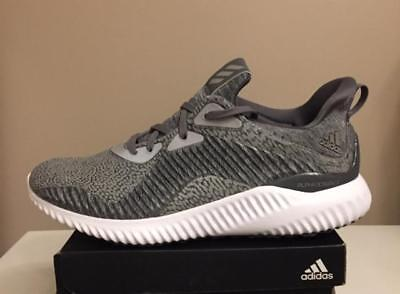 save off cf9b8 33476 New Adidas Alphabounce HPC AMS M Grey Running Reflective Mens Shoes BY4327  Sz 10