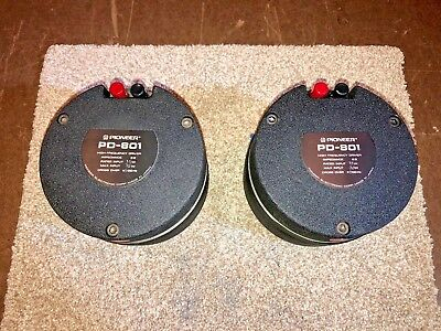 Pioneer PD-801 (Early version TAD-2001) Driver Pair - Exlnt - One Good, One Bad