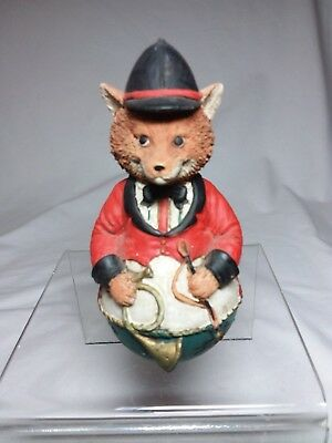 Delightful Sly Resin Fox Ready for the Hunt Dressed in Full Sporting Attire.