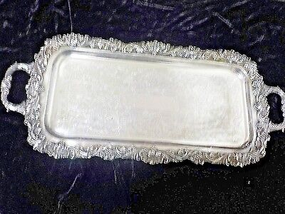 """The Sheffield Silver Co. Rectangular ( 11 """"X 25"""") Silverplate Waiters Serve Tray"""