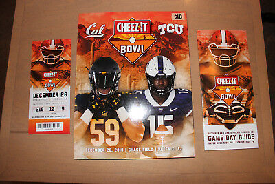2018 Cheez-It Bowl program ticket stub game  12/26/18 TCU Horned Frogs Cal mint