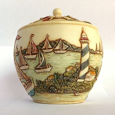 Sailboat Regatta -  Jardinia - NIB - Sailing Trinket Pot - MPS Harmony Kingdom