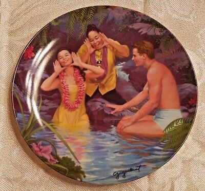 """HAPPY TALK"" SOUTH PACIFIC COLLECTIBLE PLATE Knowles Elaine Gignilliat"
