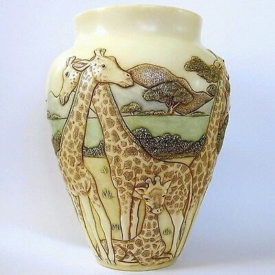 High and Mighty - Jardinia - NIB - Giraffe Vase - MPS Harmony Kingdom