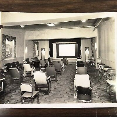 Vintage Photograph of Historic Falls City Theatre Equipment Co. Theater Room