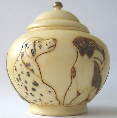On Guard - Jardinia - NIB - Dog / Puppy Trinket Pot - MPS Harmony Kingdom