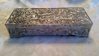 Godinger Silverplate Jewelry Trinket Box