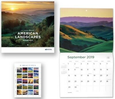 Us Nature Landscapes #5298 O Beautiful 20 Xf Forever Stamp Sheet + 2019 Calender