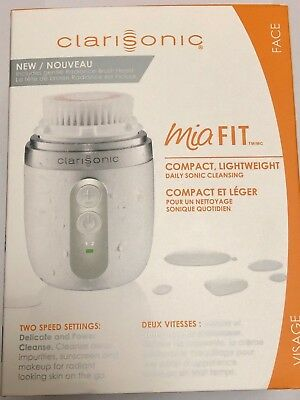 Clarisonic Mia Fit Sonic Cleansing Engineered for Unisex - Waterproof -White