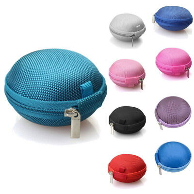 Earphone Pouch Bag Nylon Case Card USB Cabel Earbuds  Storage Mini Carry Headset