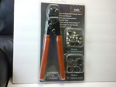 """IWISS PEX Cinch Clamp Crimping Tool for Stainless Steel Clamps Sizes from 3/8"""""""