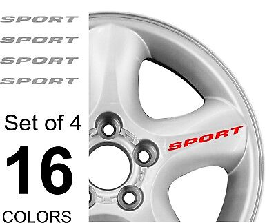 Sport Decal Sticker Wheels Rims Racing Sport Car Sticker Emblem Logo