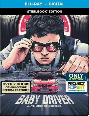 Baby Driver - Best Buy Exclusive SteelBook [Blu-ray] New & Sealed!!