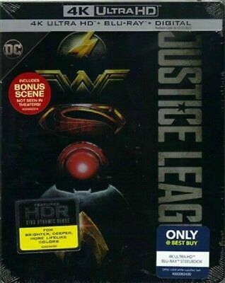 Justice League - Best Buy Excl. SteelBook [Blu-ray 4K+ Blu-ray] New & Sealed!!