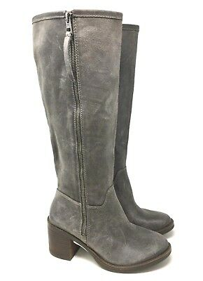 1dda97bab15 New Lucky Brand Resper Gray Tall Riding Leather Boots Size 6