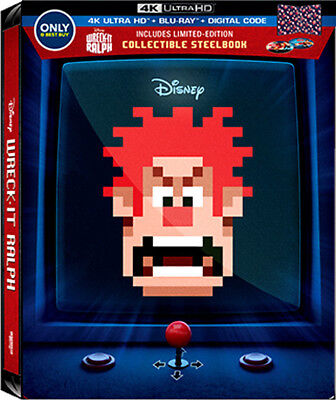 Wreck-It Ralph - Best Buy Excl. SteelBook [Blu-ray 4K+ Blu-ray] New & Sealed!!