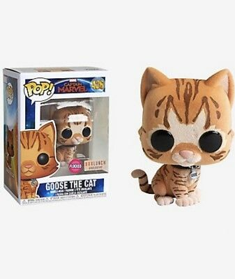 Funko Pop! Goose The Cat Flocked! Captain Marvel. BoxLunch Exclusive!