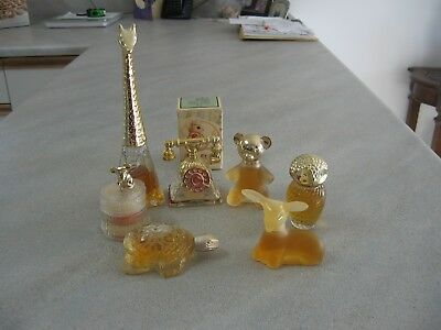 Avon Collectible Decorative Glass Figurine Bottles - Seven Bottles Available