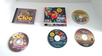 PC Games Lot Of 4-. Clue, sorry, Yahtzee and more!  Rare, fun games for all!!