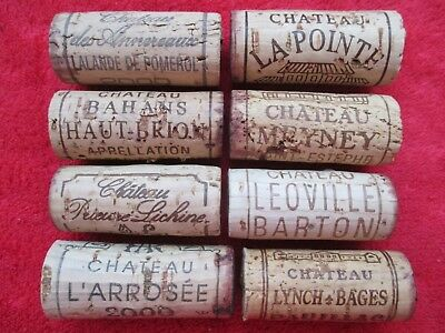8 x Bordeaux 2000 BOUCHON VIN BOTTLE WINE CORK vintage