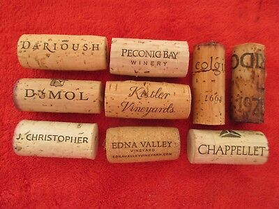 9 x USA BOUCHON VIN BOTTLE WINE CORK DUMOL RIDGE COLGIN KISTLER DARIOUSH
