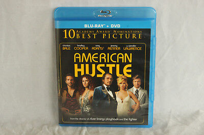 Like New Used 2-Disc Blu-Ray/Dvd Movie American Hustle Bradley Cooper Amy Adams