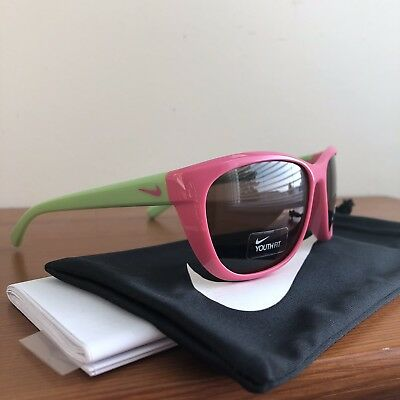 Nike Youth Fit Trophi Sunglasses Pink Cactus Green