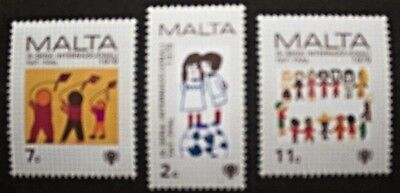 International year of the child stamps,1979, Malta, SG ref: 627-629 3 stamps MNH