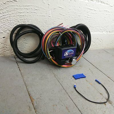 12v 18 Circuit 12 Fuse Universal Wiring Harness Kit 1953 plymouth 1939 chevrolet