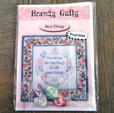 Best Things pre-printed embroidery stitchery mini quilt Nikki Tervo pattern only