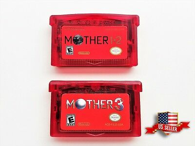 Mother 1 + 2 + 3 Cartridge Set - (English) GBA Game Boy Earthbound (USA Seller)