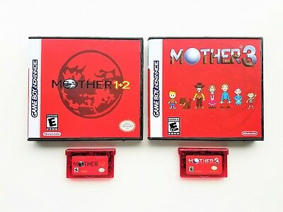 Mother 1 + 2 + 3 - English Translation GBA Game Boy Earthbound w/ Case Box Set