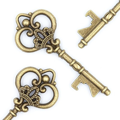 Ella Celebration Wedding Favors - Vintage Skeleton Key Bottle Openers - Queen