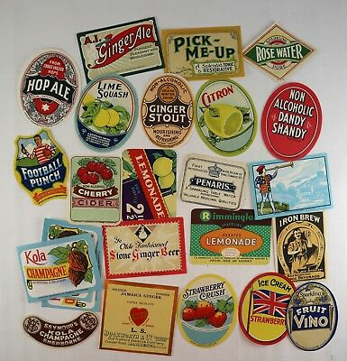 25 x Craft Scrapbooking Soft Drink Beer Labels Duckworth & Co Manchester