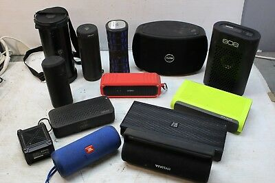 Lot Of Portable Bluetooth Speakers Jbl Pure 808 Skullcandy As Is