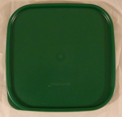 New Tupperware Replacement Lid - Green - Square Modular Mates #1623-6