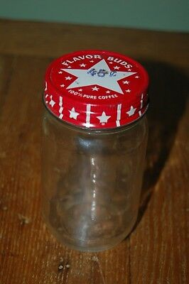 "vintage small 4.5"" Folgers Coffee Jar with Red Star Lid no label"