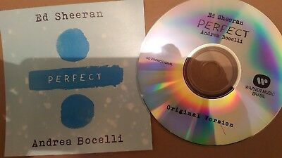 ED SHEERAN FT ANDRE BOCELLI  PERFECT promo cd NEW