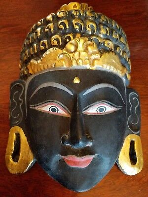 Balinese Face Mask Bodhisattva Compassion Being Asian Art Indonesian Carved Wood