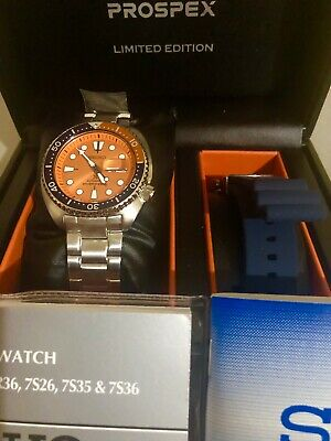 watch d966e 4775b LATEST SEIKO PROSPEX Orange Turtle SRPC95K1 Asis Limited Edition Roma Eng  Deal