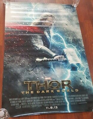 THOR - The Dark World - Original 2 Sided INTL Movie Poster 27x40  RARE ADVANCE