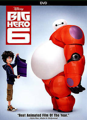 Big Hero 6 DVD New & Sealed comes with Slipcover Free Shipping included