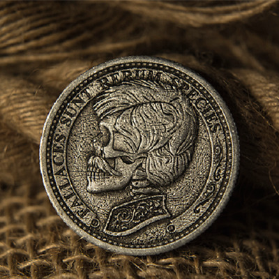 GRIFTERS COIN by Murphys Magic - ANTIQUE SILVER-PATINA FINISH - NEW!