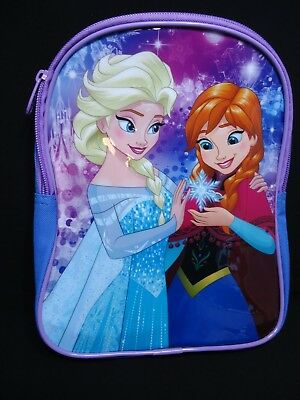 1 Disney Frozen Anna & Elsa One Compartment No Side/Front Pocket Small Backpack