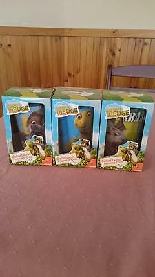 Dreamworks Over The Hedge collectable Thermo cups Ozzie Verne RJ Red Rooster